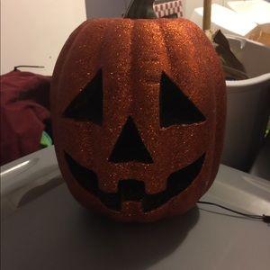 Decorative glittery pumpkin that's lights up!